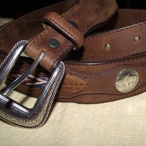 ORVIS Bison leather with a mock Indian head nickel